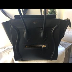 Celine Bags - Céline Micro Luggage in Black